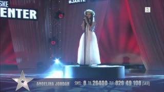 "Amazing 8 Year Old Angelina Jordan Sings ""Shot Me Down"" Bang Bang On Norway's Got Talent"