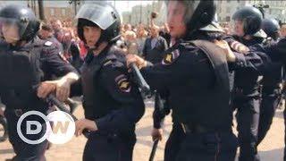 Протесты в России против Путина: как задерживали сторонников Навального