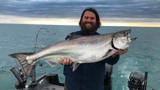 King Salmon Fishing Lake Michigan ( We Found Them!!!) Spring 2020