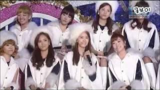 101229 GIRLS' GENERATION (SNSD) - SNOWY WISH & HOOT @ GAYO STAGE