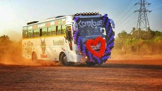 Komban tourist bus kerala Heavy mass entrys Tiktok collection Komban Holidays part 2
