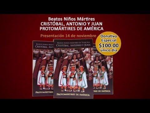 """Venta de libro """"Beatos Niños Mártires Cristóbal, Antonio y Juan, Mártires de América"""""""