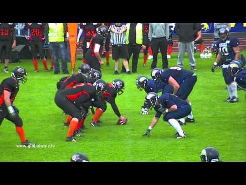 Amercian Football (Germany) Wolfpack vs. Beavers 04 05 2013
