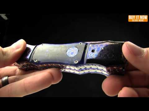 Rainy Vallotton Double-Ended Hell Razor Automatic Knife Damascus (2 Blades)