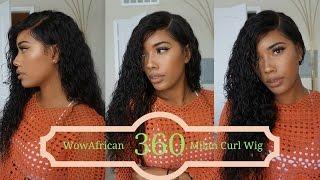 360 Milan Curl Brazilian Hair Lace Wig - WowAfrican
