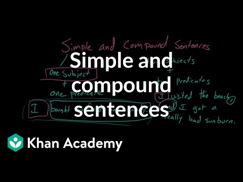Simple and compound sentences video khan academy ccuart Image collections