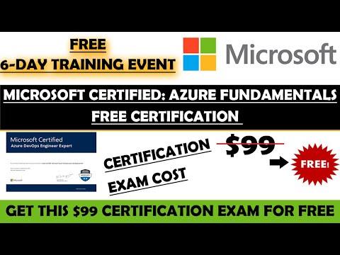 Microsoft Free Certificate   Microsoft Certified Azure Fundamentals ...