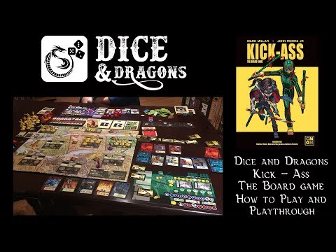 Dice and Dragons - Kick - Ass The Board Game How to Play and Playthrough