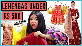 LEHENGAS FROM AMAZON UNDER ₹500 OMG😱 Shopping from Amazon | Worth It? HAUL & REVIEW