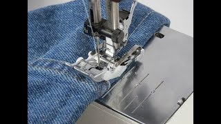 Hemming Jeans With The Magic Jeans Hemming Foot