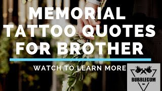Memorial Tattoo Quotes For Brother  /  Using Cremation Ashes in Tattoo Ink For a Memorial Tattoo.