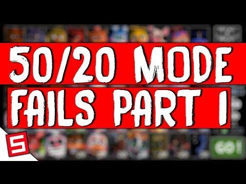 50/20 MODE Fails - FNAF Ultimate Custom Night - FNAF UCN 50/20 MODE