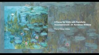 3 Pieces for Violin with Pianoforte Accompaniment