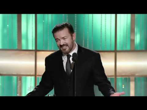 Golden Globes 2011 - Ricky Gervais roasts hollywood in opening monologue.mp4