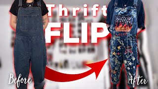 Turning £10 Dungarees Into A Fashion MUST HAVE!? | Thrift Flip!
