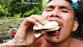 Aired (June 28, 2020): BABALA: Huwag gagayahin! Mukbang Challenge pero buhay na hayop at insekto ang nilalantakan? Bakit niya ito ginagawa? At anong peligro ang hatid nito sa kalusugan?  'Kapuso Mo, Jessica Soho' is GMA Network's highest-rating magazine show. Hosted by the country's most awarded broadcast journalist Jessica Soho, it features stories on food, urban legends, trends, and pop culture. 'KMJS' airs every Sunday, 8:25 PM on GMA Network.  Subscribe to youtube.com/gmapublicaffairs for our full episodes. #KMJS15  Watch the latest episodes of your favorite GMA Public Affairs shows #WithMe. Stay #AtHome and subscribe to GMA Public Affairs' official YouTube channel and click the bell button to catch the latest videos.  GMA Network promotes healthy debate and conversation online.  Any abusive language that does not facilitate productive discourse will be blocked from this post.      GMA Network upholds ethical standards of fairness, objectivity, accuracy, transparency, balance, and independence.   Walang Kinikilingan, Walang Pinoprotektahan, Serbisyong totoo lamang.   Subscribe to the GMA Public Affairs channel: https://www.youtube.com/user/gmapublicaffairs  Visit the GMA News and Public Affairs Portal: http://www.gmanews.tv  Connect with us on: Facebook: http://www.facebook.com/gmapublicaffairs/ Twitter: http://www.twitter.com/gma_pa
