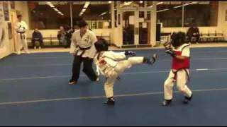 Children's sparring session, ages 7 & 8.
