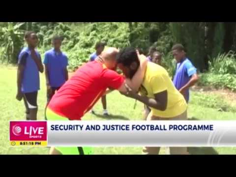 Ministry of  Security and Justice mentor youth through sports