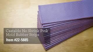 Castaldo® Pink Mold Rubber Strips
