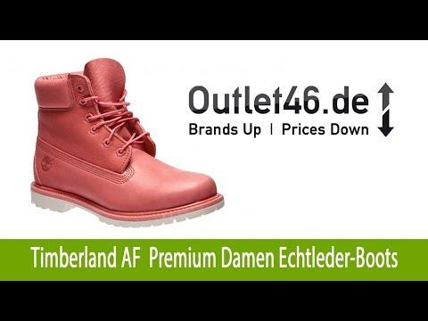 Timberland AF 6-inch Premium Damen Echtleder-Boots kaufen Koralle | Outlet46.de