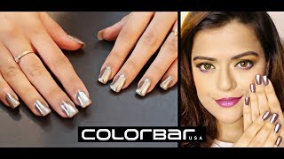 Get Mirror Effect On Nails At Home | Chrome Nails With Colorbar Magic Mirror Kit | Demo & Review