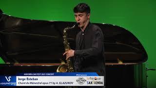 Jorge Esteban plays Chant du Ménestrel opus 71 by Alexander GLAZUNOV