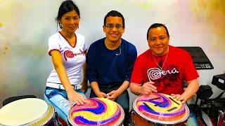 Leccion de percusion en Lima Peru