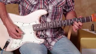 "Easy Open string blues guitar lesson ""Papastache Style"""