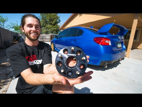 Perfect Subaru WRX/STi Fitment w/ PERRIN 20mm Wheel Spacers!