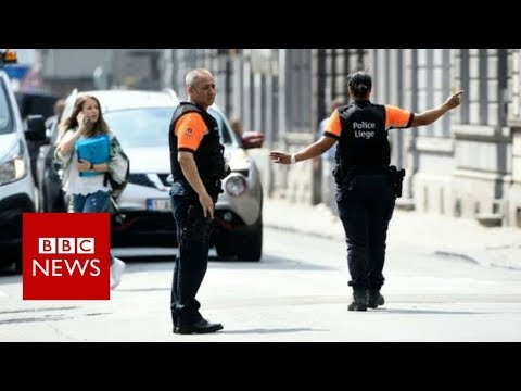 Liege shooting: Two police and passer-by dead in Belgium - BBC News