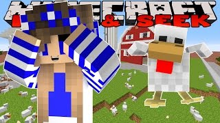 Minecraft Custom Modded Mini Games-Little Carly-CHICKEN HIDE AND SEEK w/Little Kelly.