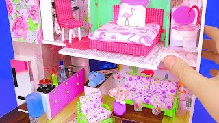 DIY Miniature House With 4 Rooms: Kitchen, Living Room, Bedroom, Etc.