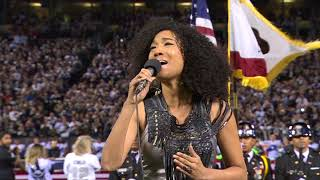 Judith Hill Performs National Anthem