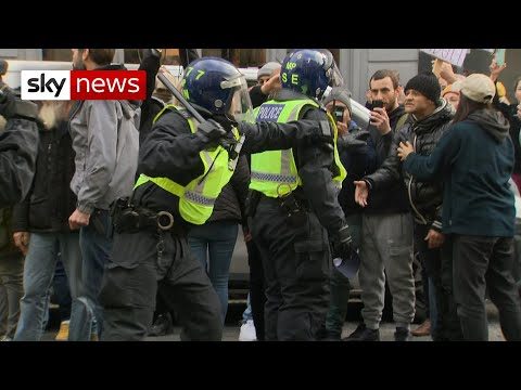 COVID-19: More than 60 arrests as anti-lockdown protesters clash with police in London
