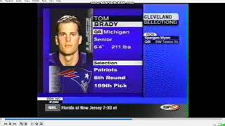 Original ESPN Tom Brady NFL Draft Video 2000 Pick 199 Patriots