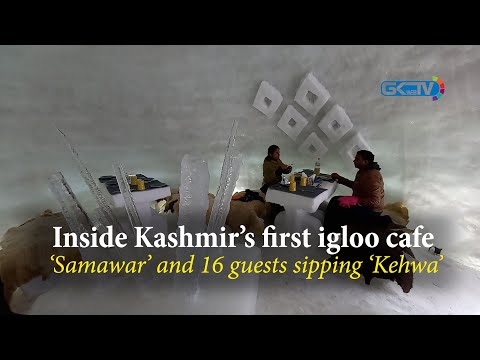 Inside Kashmir's first Igloo cafe a 'Samavar' and 16 guests sipping 'kehwa'