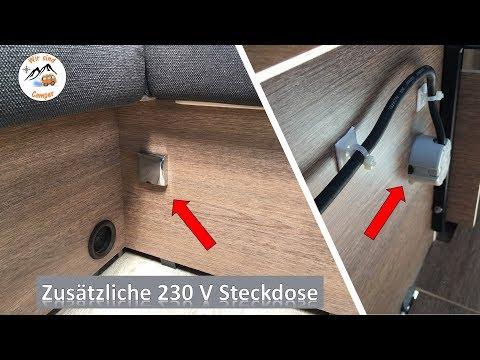 Eine zusätzliche Steckdose in den Wohnwagen einbauen