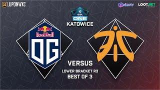 O.G vs Fnatic Game 1 (BO3) | ESL Katowice 2019 Lower Bracket Semi-Finals
