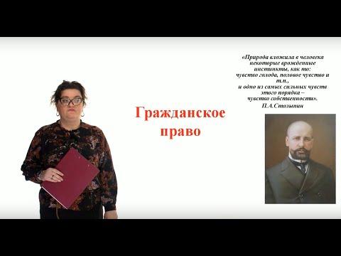 Видеоурок «Гражданское право»