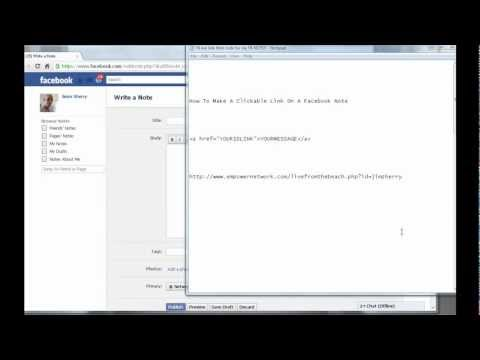 How To Make A Clickable Link On A Facebook Note