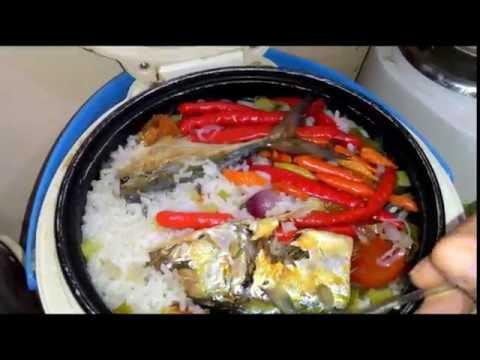 Video nasi liwet ikan peda dengan rice cooker