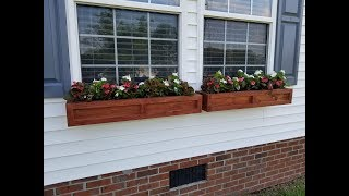 How To Build Cedar Window Planter Boxes