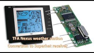 TFA Nexus Funkwetterstation Umbau auf Superhet Empfänger