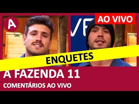 A FAZENDA 11: ENQUETES! Quem fica? Lucas ou Guilherme? - COMENTÁRIOS AO VIVO