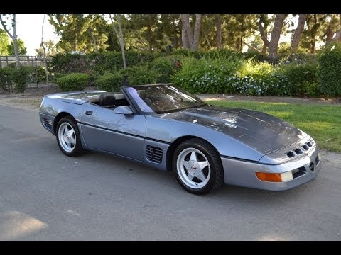 1990 Chevrolet Callaway Corvette Aero Body Convertible in Steel Blue