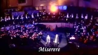 Andrea Bocelli & Zucchero Fornaciari - Miserere (Live) (English lyrics translation)