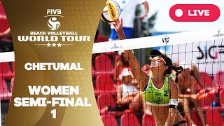 Chetumal 3-Star - 2018 FIVB Beach Volleyball World Tour - Women Semi Final 1
