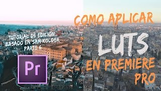 COMO APLICAR LUTS EN PREMIERE PRO  / PAQUETE DE LUTS GRATIS / TUTORIAL SAM KOLDER ESPAÑOL PARTE 6
