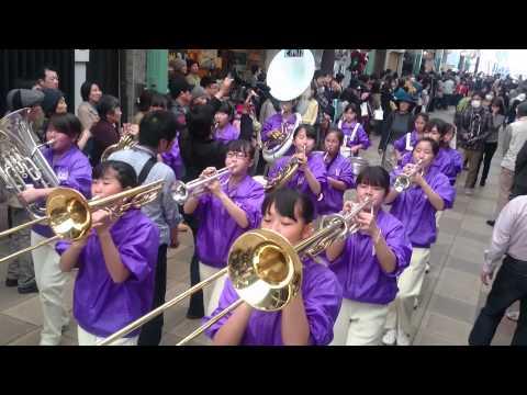 河合町立河合第二中学校吹奏楽部 京都さくらパレード2015