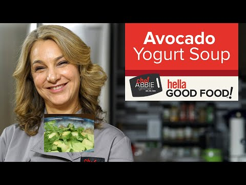 Avocado Cucumber Yogurt Soup